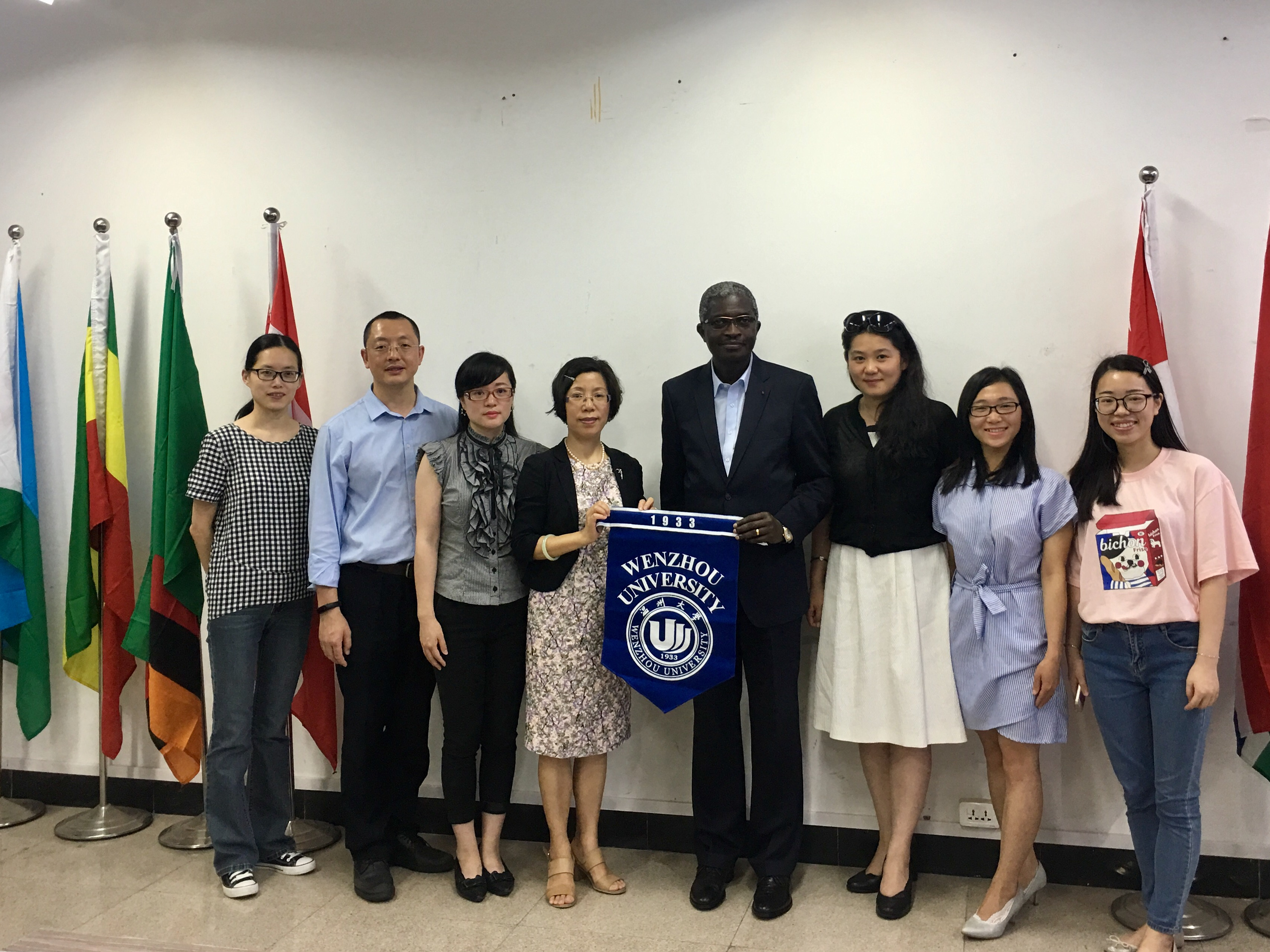 Delegation led by Benin ambassador to China visits WZU